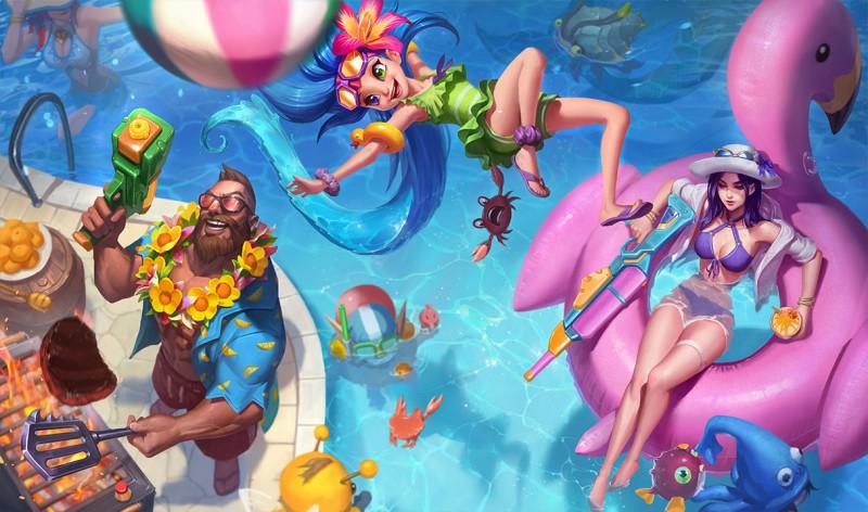 Sobota s League of Legends – NOVINKY – Bazénová párty!